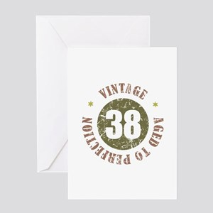38th Vintage birthday Greeting Card