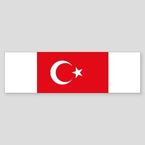 Turkey - National Flag - Current Sticker (Bumper)