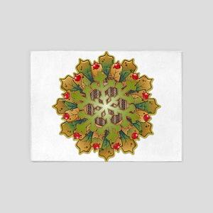 Holiday Snowflake 5'x7'Area Rug