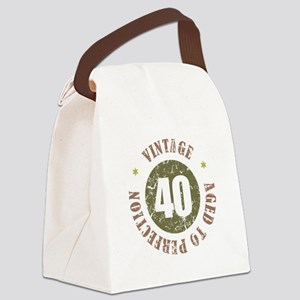 40th Vintage birthday Canvas Lunch Bag