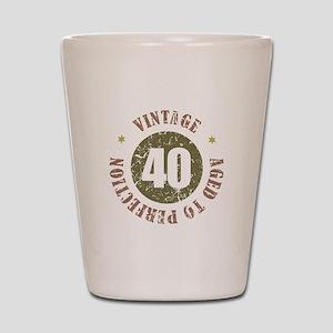 40th Vintage birthday Shot Glass