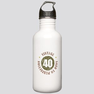 40th Vintage birthday Stainless Water Bottle 1.0L