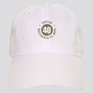 40th Vintage birthday Cap
