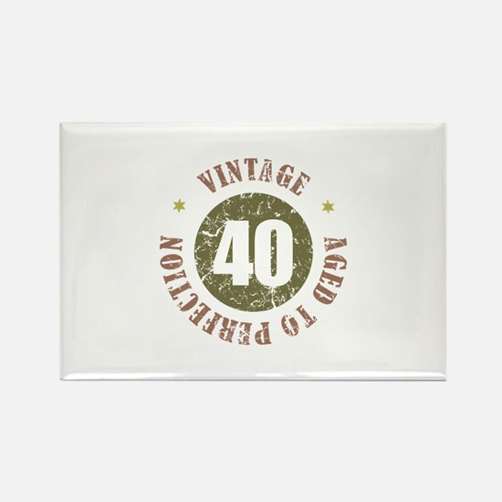 40th Vintage birthday Rectangle Magnet