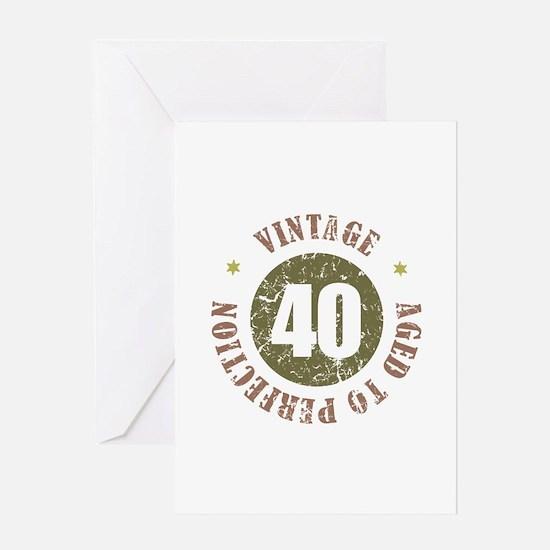40th Vintage birthday Greeting Card