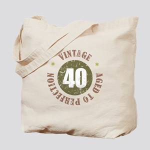 40th Vintage birthday Tote Bag