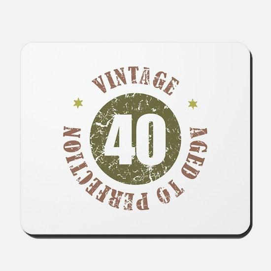 40th Vintage birthday Mousepad
