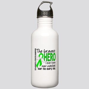 Bravest Hero I Knew NH Lymphoma Stainless Water Bo