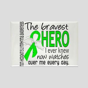 Bravest Hero I Knew NH Lymphoma Rectangle Magnet