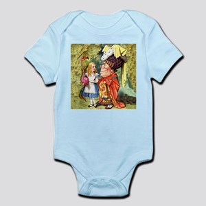Alice and the Duchess Play Croquet Infant Bodysuit