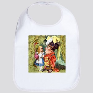 Alice and the Duchess Play Croquet Bib