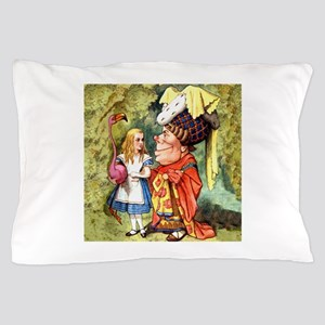 Alice and the Duchess Play Croquet Pillow Case