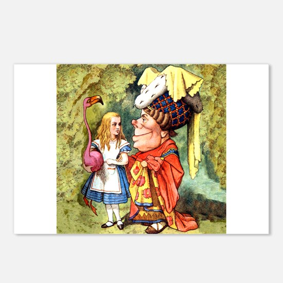 Alice and the Duchess Play Croquet Postcards (Pack