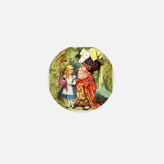 Alice and the Duchess Play Croquet Mini Button