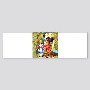 Alice and the Duchess Play Croquet Sticker (Bumper