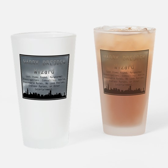 Harry Dresden Business Card Drinking Glass