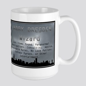 Harry Dresden Business Card Large Mug