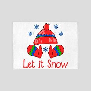 Let It Snow 5'x7'Area Rug
