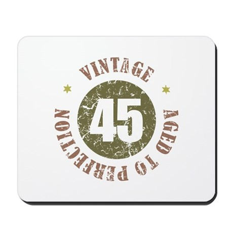 45th Vintage birthday Mousepad