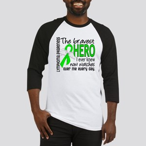 Bravest Hero I Knew Lymphoma Baseball Jersey