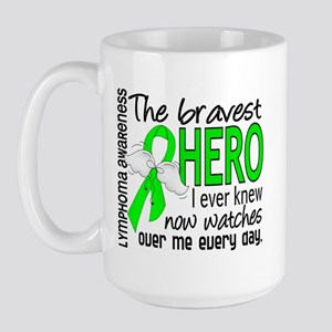 Bravest Hero I Knew Lymphoma Large Mug