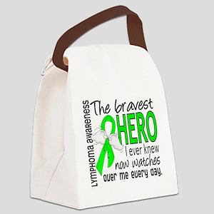 Bravest Hero I Knew Lymphoma Canvas Lunch Bag