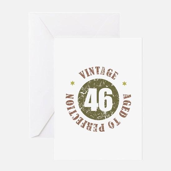 46th Vintage birthday Greeting Card