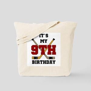 Hockey 9th Birthday Tote Bag