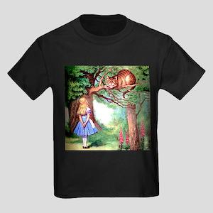 Alice and the Cheshire Cat Kids Dark T-Shirt
