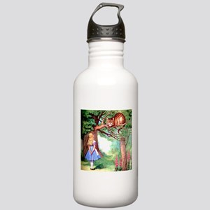 Alice and the Cheshire Cat Stainless Water Bottle