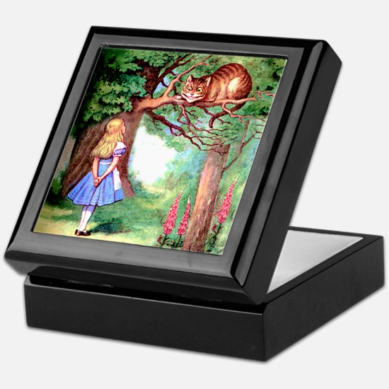 Alice and the Cheshire Cat Keepsake Box