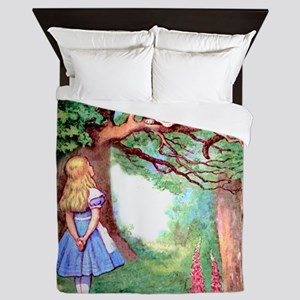 Alice and the Cheshire Cat Queen Duvet