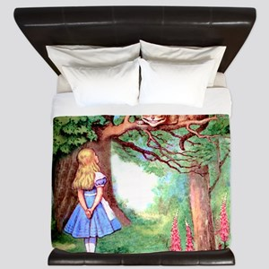 Alice and the Cheshire Cat King Duvet