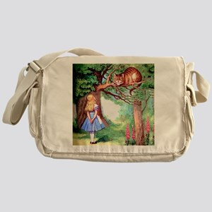 Alice and the Cheshire Cat Messenger Bag