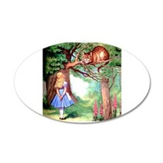 Alice and the Cheshire Cat Wall Decal