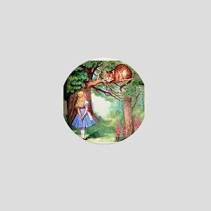 Alice and the Cheshire Cat Mini Button