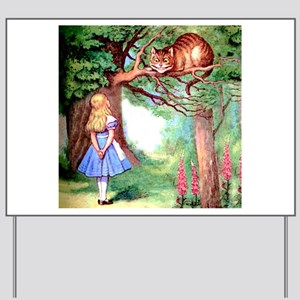 Alice and the Cheshire Cat Yard Sign