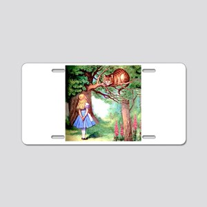 Alice and the Cheshire Cat Aluminum License Plate