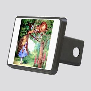 Alice and the Cheshire Cat Rectangular Hitch Cover