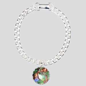 Alice and the Cheshire Cat Charm Bracelet, One Cha