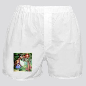 Alice and the Cheshire Cat Boxer Shorts