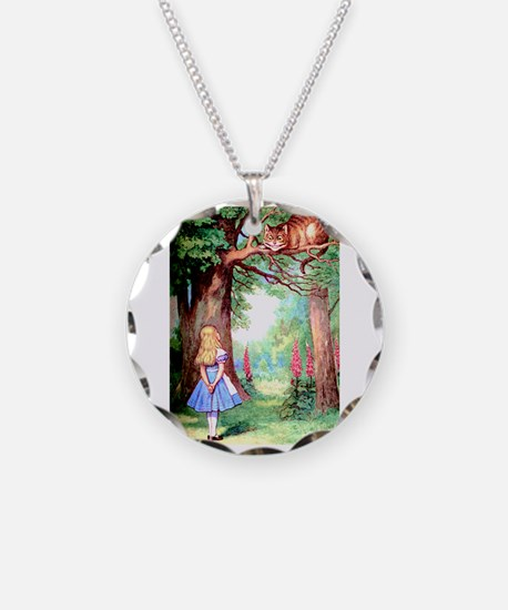 Alice and the Cheshire Cat Necklace