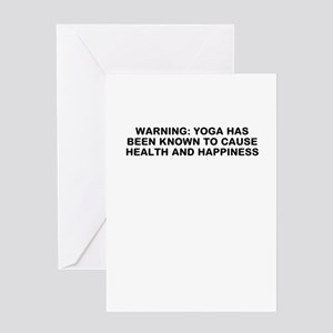 Yoga happiness Greeting Card