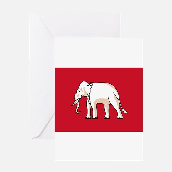 Thailand - National Flag - 1855-1916 Greeting Card