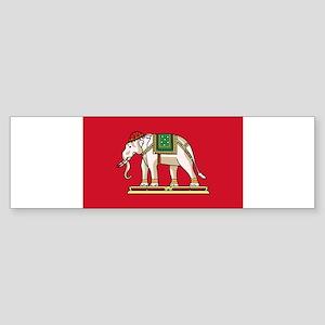 Thailand - National Flag - 1916-1917 Sticker (Bump