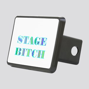 STAGE BITCH BLUE Rectangular Hitch Cover