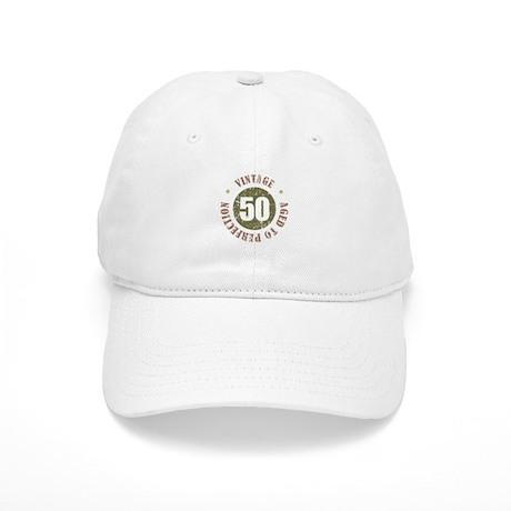 50th Vintage birthday Cap