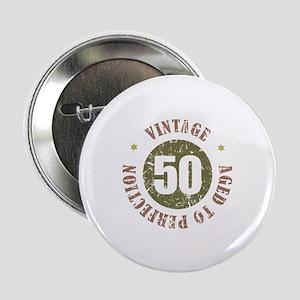 """50th Vintage birthday 2.25"""" Button"""