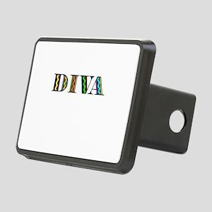 DIVA Black Rectangular Hitch Cover