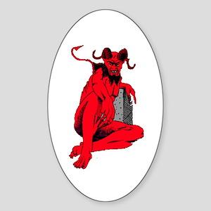 Lucifer Oval Sticker
